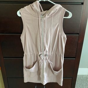 Maurices hooded drawstring conch waist vest